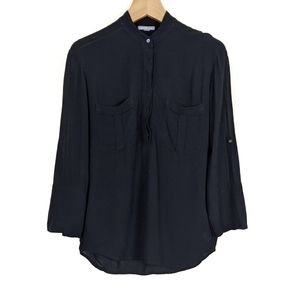 James Perse Semi Sheer Button Down Shirt